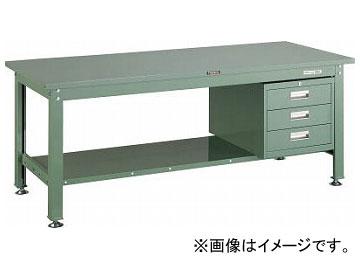 トラスコ中山/TRUSCO SHW型作業台 1800×750×H740 3段引出付 SHW1800D3 GN(2891891) JAN:4989999642100