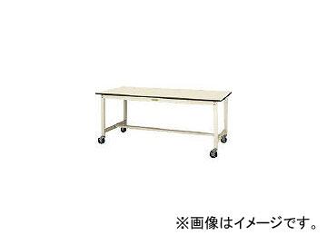 山金工業/YAMAKIN ワークテーブルキャスター付 ポリエステル天板W1200×D600 SWPC1260II