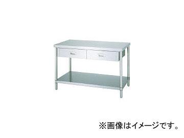 シンコー/SHINKOHIR ステンレス作業台片面引出付ベタ棚 ADB12075