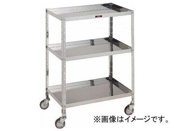 トラスコ中山/TRUSCO V型ステンレスワゴン 600×400×H835 3段 JAN:4989999823134 VLL13SUS(3525333) VLL13SUS(3525333) 600×400×H835 JAN:4989999823134, 【特価】:2b294506 --- officewill.xsrv.jp
