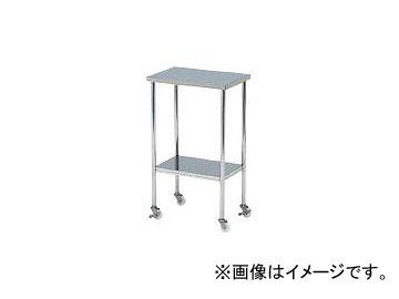 本庄厨房機器製作所 マイティー ステンレスミニテーブルワゴン 450×300 スチールキャスター付 ASN4530E