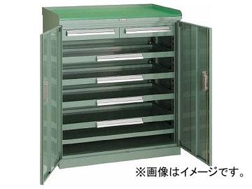 トラスコ中山/TRUSCO スライド工具キャビネット 881×551 コボレ止め天板付 DX33(5180180) JAN:4989999621259