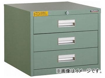 引出3段 500×550×H420 LVE型キャビネット LVE426(2523833) JAN:4989999665970 トラスコ中山/TRUSCO