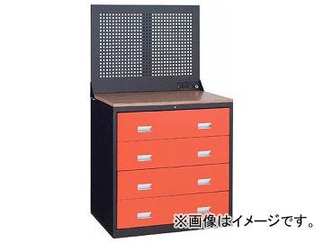 トラスコ中山/TRUSCO TWK型キャビネット 900×650 4段 Pパネル付 黒 TWK904SP