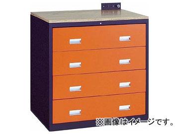 トラスコ中山/TRUSCO TWK型3ロックキャビネット 900×650 4段 黒 TWK904W