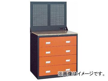 トラスコ中山/TRUSCO TWK型3ロックキャビネット 900×650 4段 Pパネル付 黒 TWK904WP