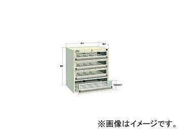 大阪製罐/OS デラックスキャビネットDX型 最大積載量800kg 引出し4段 DX802GT