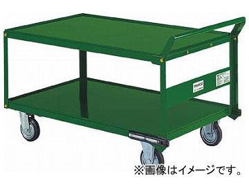 トラスコ中山/TRUSCO 鋼鉄製運搬車 片袖2段型 1200×750 プレス車 自在側S付 SH1WS(2391589) JAN:4989999670325