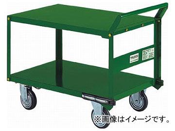 トラスコ中山/TRUSCO 鋼鉄製運搬車 片袖2段型 800×450 プレス車 自在側S付 SH32S(5042411) JAN:4989999670301