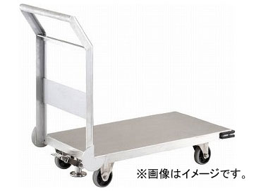 トラスコ中山/TRUSCO ステンレス鋼板製運搬車 固定式 800×450 S付 SHS3S(3372804) JAN:4989999015379