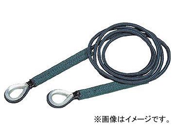 トラスコ中山/TRUSCO セフティパワーロープ 両端シンブル入 9mm×3m SP93C(1175611) JAN:4989999178708
