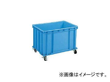 積水テクノ成型/SEKISUI-TECHNO S型コンテナ S-100 キャスター付(自在4ケ内2ケストッパー付き) 青 S100C(2402211) JAN:4901860097727