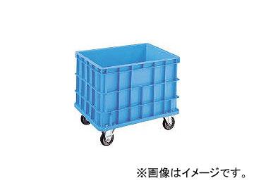 積水テクノ成型/SEKISUI-TECHNO S型コンテナ S-200 キャスター付(自在2ケ固定2ケ) 青 S200C(2402238) JAN:4901860097710