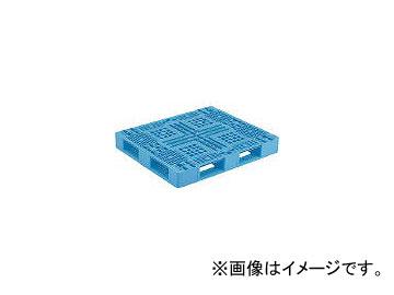 三甲/SANKO プラスチックパレット D4-102-2 青 SKD410122BL