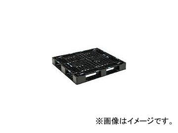 三甲/SANKO プラスチックパレット D4-1012-8 ブラック SKD410128BK