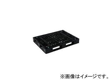 三甲/SANKO プラスチックパレット 1300×1000×150 黒 SKD41013BK