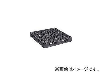 日本プラパレット プラスチックパレットLA-1111RR 片面四方差し 黒 LA1111RRBK