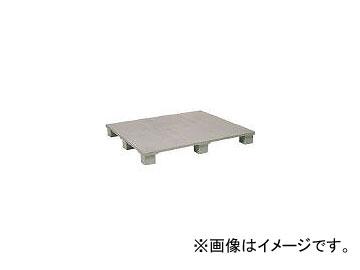 日本プラパレット プラスチックパレットSX1108E4 単面四方差 グレー SX1108E4