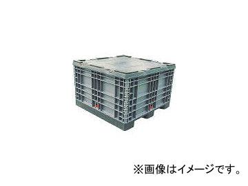 岐阜プラスチック工業/GIFUPLA パレットボックスBJ-S・1111×70S分解収納型 グレー BJS1111X70S