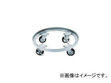 日東金属工業/NITTO-KINZOKU タンク運搬用ステンレス台車 SSゴム車 適用サイズ565・565H KM565(5096278) JAN:4560132182723