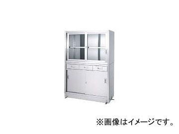 シンコー/SHINKOHIR ステンレス保管庫引出付上部ガラス戸下部ステンレス戸ベース仕様 VDG9045