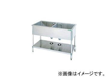 タニコー/TANICO 二槽シンク 1200×600×800(バックガード無し) TX2S120NB