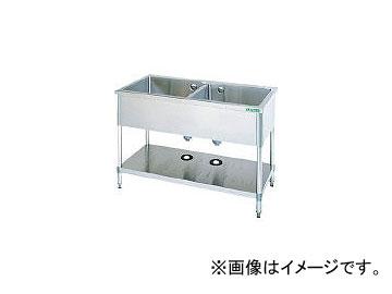 タニコー/TANICO 二槽シンク 900×600×800(バックガード無し) TX2S90NB