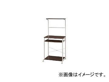 アイリスオーヤマ/IRISOHYAMA パソコンデスク PDT-7540 ダークブラウン/ホワイト PDT7540(4101251) JAN:4905009767847