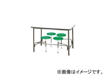 ニシキ工業/NISHIKI 食堂テーブル 4人掛 グリーン STM1275GN