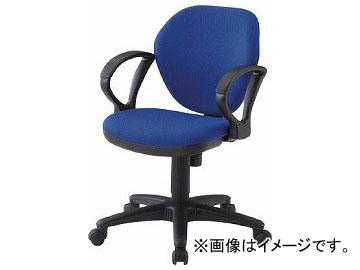 トラスコ中山/TRUSCO オフィスチェア 肘付 青 T10AB(4086350) JAN:4989999168341
