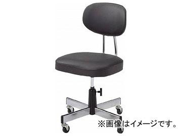 トラスコ中山/TRUSCO 事務椅子 ビニールレザー張り ブラック L2095(5035716) JAN:4989999790078