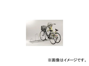 ダイケン/DAIKEN 平置き自転車ラック前輪差込式サイクルスタンド 6台収容ピッチ600 CSML6