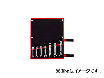 前田金属工業/TONE 首振クイックラチェットめがねレンチセット RMFQ700(4319753) JAN:4953488299267