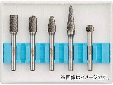 トラスコ中山/TRUSCO 超硬バーセットCシリーズ 軸6mm 刃径9.5mm TBC0955S(4365615) 入数:1セット(5本入) JAN:4989999239249