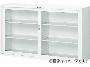 トラスコ中山/TRUSCO スタンダード書庫(D400) ガラス引違 1500XH880 W色 W305G(4627512)