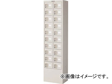 トラスコ中山/TRUSCO 預かりロッカー2列10段 コインリターン錠 KTL210CR(4540727)