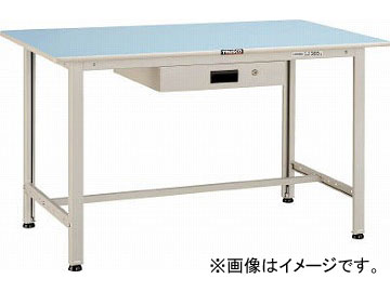 トラスコ中山/TRUSCO BO型軽量作業台 900X750 薄型1段引出付 BO0975UDK1(4544072)