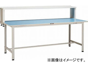 トラスコ中山/TRUSCO BO型軽量作業台 1800X900 上棚付 BO1890YURB(4544510)