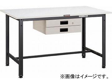 トラスコ中山/TRUSCO AE型作業台 900X600XH740 薄型2段引出付 DG色 AE0960UDK2DG(4542657)