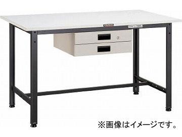 トラスコ中山/TRUSCO AE型作業台 1800X900XH740 薄型2段引出付 DG色 AE1809UDK2DG(4543149)