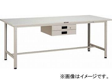 トラスコ中山/TRUSCO SAE型作業台 1800X900XH740 薄型2段引出付 W色 SAE1809UDK2W(4546687)