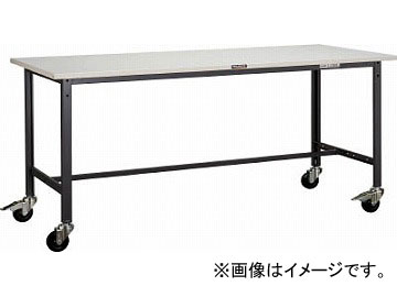 トラスコ中山/TRUSCO SAE型作業台 1800X900XH740 100φキャスター付 SAE1809C100W(4546628)