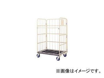 ワコーパレット/WAKO-PALLET 床板プラスチック製カゴ車 850×650×1700 WKP8565(4677447)
