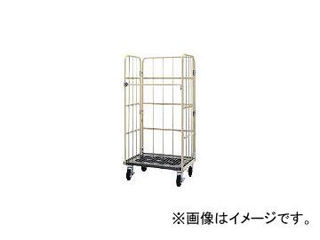 ワコーパレット/WAKO-PALLET 床板プラスチック製カゴ車 850×600×1700 WKP8560(4677421)