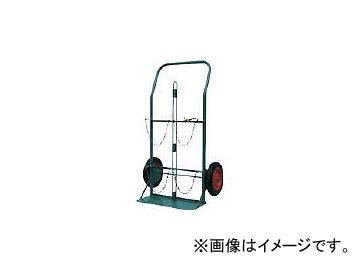 カミマル/KAMIMARU ボンベ運搬車 酸素7000L容器、アセチレン7.0kg容器用 KSCOMPACT(4527887)