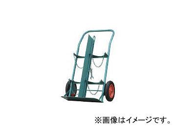 カミマル/KAMIMARU ボンベ運搬車(仕切板付) 酸素7000L容器、アセチレン7.0kg容器用 KSCOMPACTP(4527895)