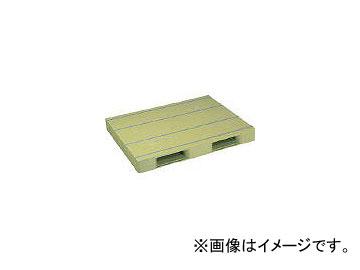 日本プラパレット プラスチックパレットZD-1114E 片面二方差し ライトグリーン ZD1114ELG(4532996)