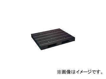 日本プラパレット プラスチックパレットZD-1315E-RR 片面二方差し 黒 ZD1315ERRBK(4634969)