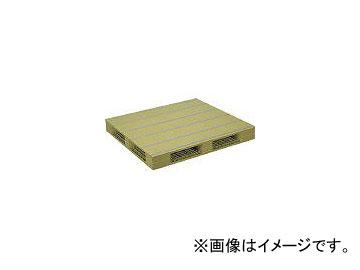 日本プラパレット プラスチックパレットZFR-1111E 両面四方差し ライトグリーン ZFR1111ELG(4533038)