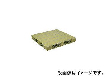 日本プラパレット プラスチックパレットZFR-1212E 両面四方差し ライトグリーン ZFR1212ELG(4533054)